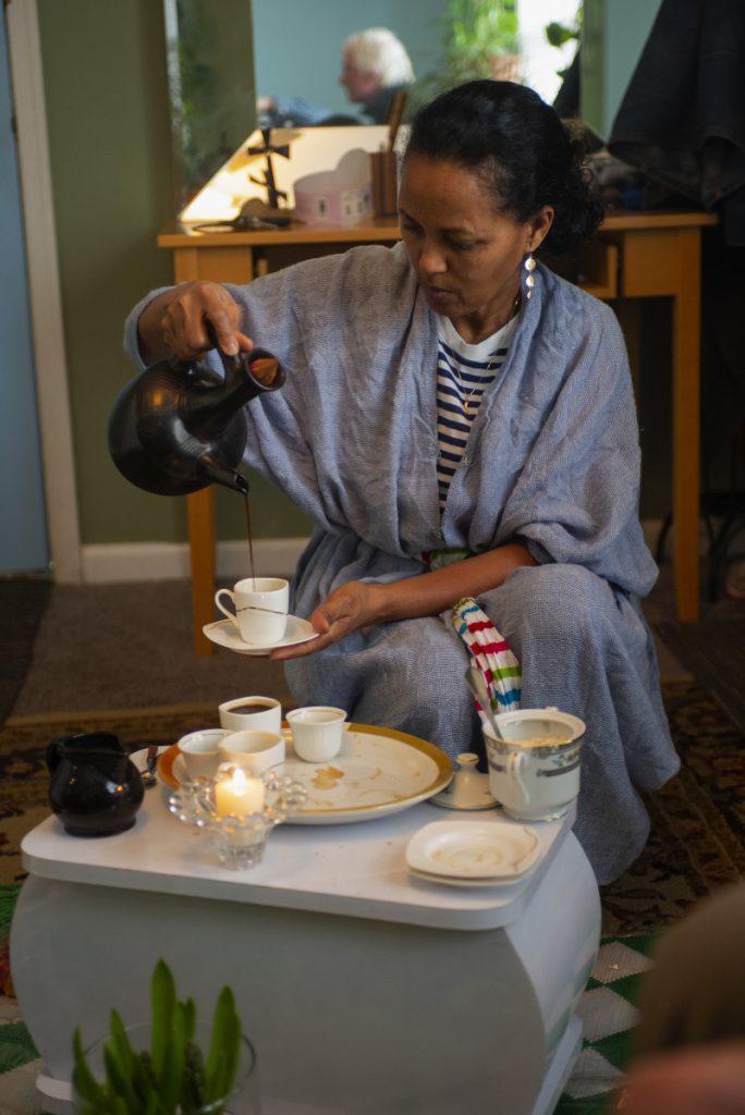 Lemlem Gebray will be apprenticing her twin daughters Akeza and Datta in the art of Ethiopian coffee ceremonies. Pat Jarrett/Virginia Humanities